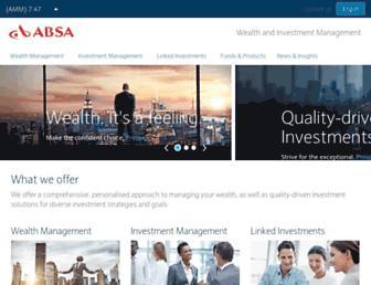 absainvestments.co.za screenshot