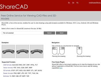 beta.sharecad.org screenshot