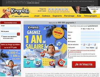 kingoloto.com screenshot
