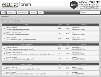 forum.vectric.com screenshot