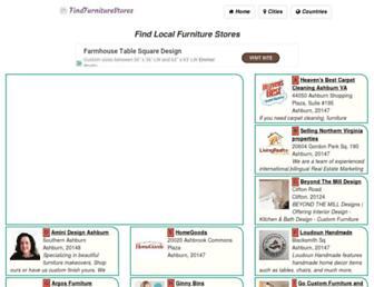 findfurniturestores.com screenshot