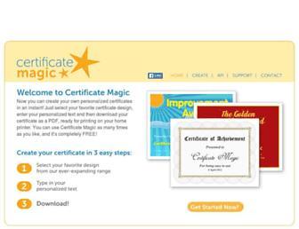 certificatemagic.com screenshot