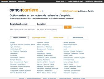 optioncarriere.tn screenshot