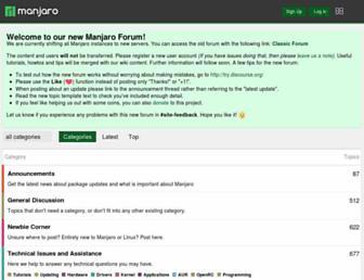forum.manjaro.org screenshot