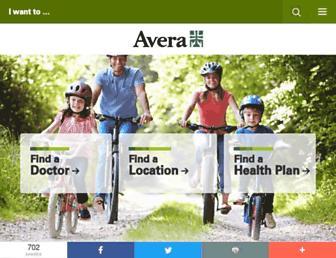 avera.org screenshot