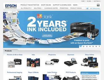 epson.com.au screenshot