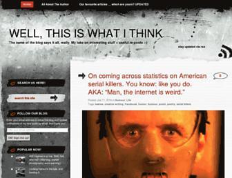 Thumbshot of Wellthisiswhatithink.com