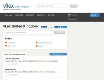 vlex.co.uk screenshot