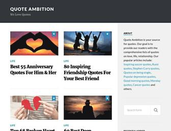 quoteambition.com screenshot