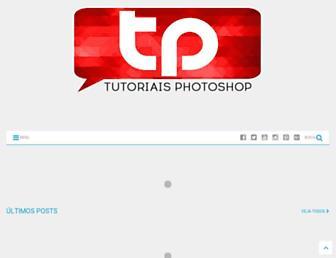 Main page screenshot of tutoriaisphotoshop.net
