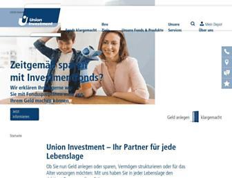 union-investment.de screenshot