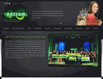Main page screenshot of entrum.ee