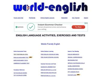 Main page screenshot of world-english.org