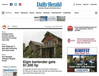 dailyherald.com screenshot