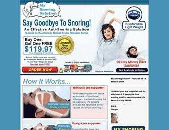 Screenshot for mysnoring-solution.com