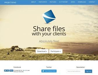 projectsend.org screenshot