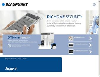 Main page screenshot of blaupunkt.de