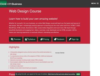 web.excelwithbusiness.com screenshot