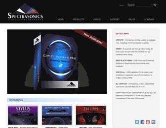 Main page screenshot of spectrasonics.net