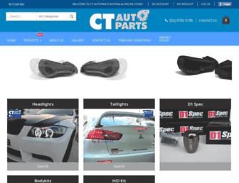 ctautoparts.com.au screenshot