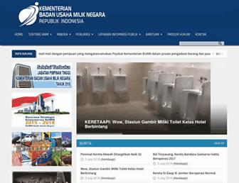 Main page screenshot of bumn.go.id