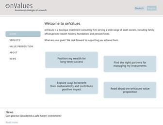 onvalues.ch screenshot