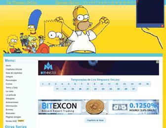 Main page screenshot of lossimpsonsonline.com.ar