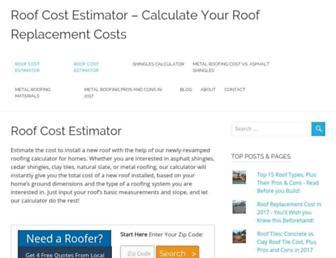 roofcostestimator.com screenshot