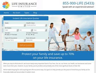 lifeinsuranceunited.com screenshot