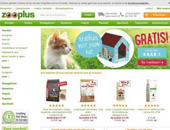 Main page screenshot of zooplus.nl