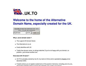 Main page screenshot of uk.to