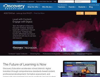 discoveryeducation.com screenshot