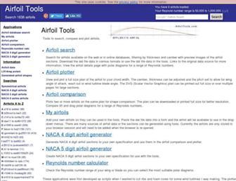 airfoiltools.com screenshot