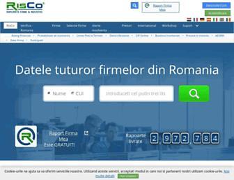 risco.ro screenshot