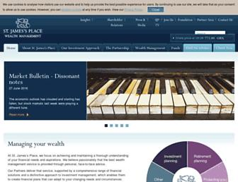 Main page screenshot of sjp.co.uk