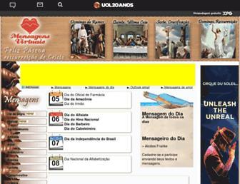 Main page screenshot of mensagensvirtuais.xpg.com.br