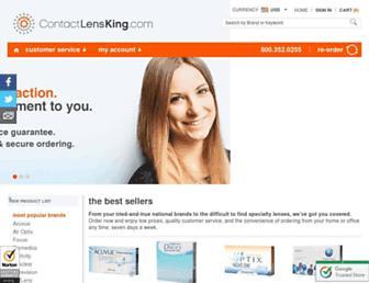 contactlensking.com screenshot