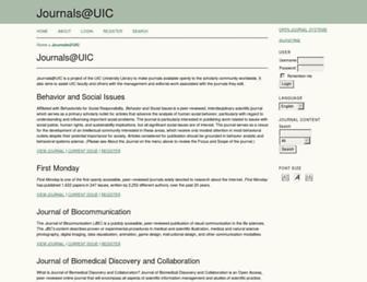 journals.uic.edu screenshot