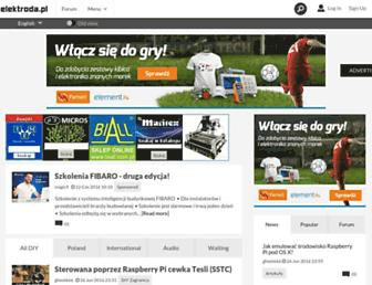 Main page screenshot of elektroda.pl