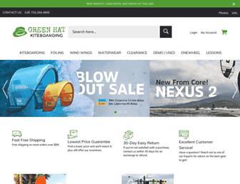 greenhatkiteboarding.com screenshot