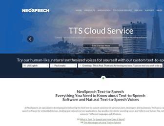 neospeech.com screenshot