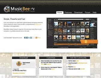 getmusicbee.com screenshot