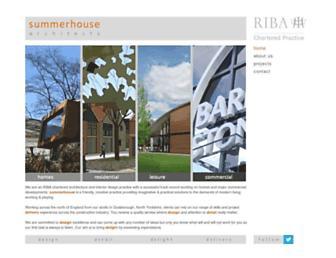 Main page screenshot of summerhouse.uk.net