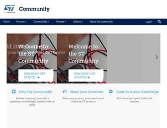 community.st.com screenshot