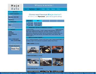 Main page screenshot of mojeauto.piwko.pl