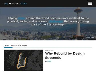 100resilientcities.org screenshot