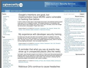 Thumbshot of Cgisecurity.com