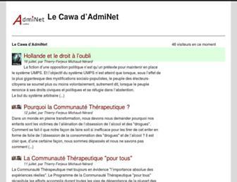 Main page screenshot of cawa.fr