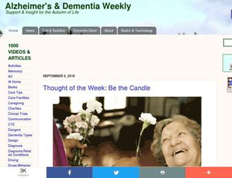 alzheimersweekly.com screenshot