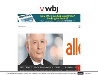 Main page screenshot of wbj.pl